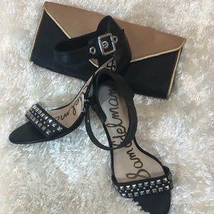 Sam Edelman black studded leather heels